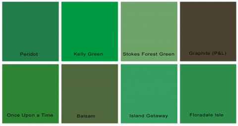 Different Shades Of Green Paint Different Shades Of Green